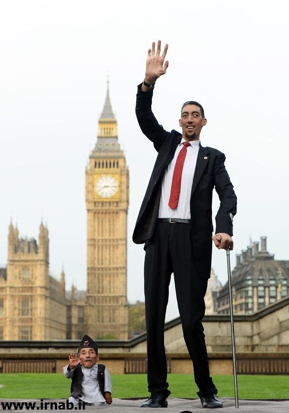 بلندترین مرد جهان و کوتاه ترین مرد جهان بلندقدترین و کوتاه قدترین مردان جهان در کتاب گینس