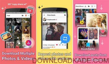 batchsave for instagram full irnab ir دانلود BatchSave for Instagram Full 23.0  برنامه ذخیره عکس و ویدئو اینستاگرام اندروید