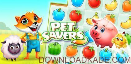 pet savers irnab ir دانلود Pet Savers 1.5.1  بازی پازل نگهداری حیوانات اندروید + مود