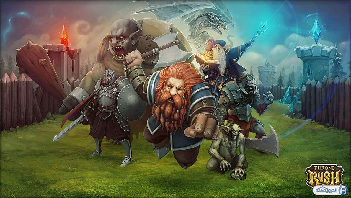 throne rush irnab ir دانلود بازی حمله به تاج و تخت Throne rush v4.20.0 اندروید