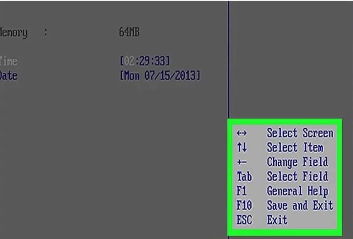 تغییر تنظیمات bios کامپیوتر irnab ir تغییر تنظیمات BIOS کامپیوتر