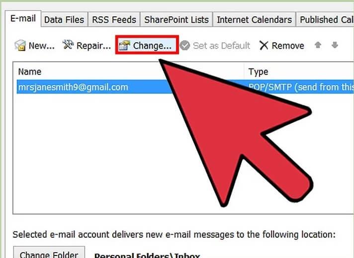 5b3b3fabefa70 تغییر رمز عبور حساب های متصل outlook irnab ir تغییر رمز عبور حساب های متصل به Outlook
