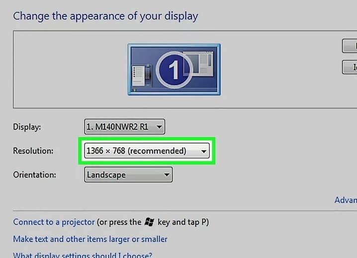 5b3db23015105 تغییر رزولوشن صفحه ویندوز 7 8 irnab ir تغییر رزولوشن صفحه در ویندوز 7 و 8