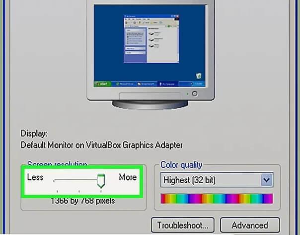 5b3dccaf28507 تغییر رزولوشن صفحه ویندوز xp irnab ir تغییر رزولوشن صفحه در ویندوز XP