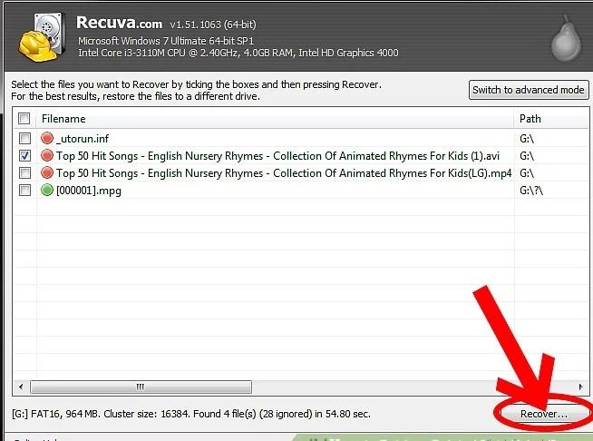 5b4462858215d نحوه بازیابی اطلاعات حذف شده با استفاد irnab ir نحوه بازیابی اطلاعات حذف شده با استفاده از Recuva