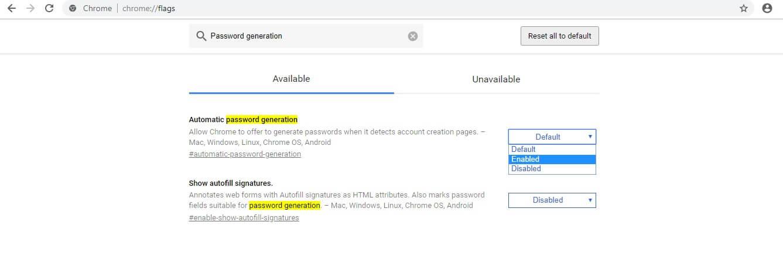 نحوه ی فعال کردن ابزار تولید کننده ی رمز irnab ir نحوه ی فعال کردن ابزار تولید کننده ی رمز عبور Chrome