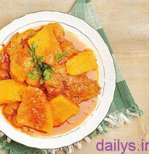 tarztahiyekhoresht kadohalvaeebamorgh irnab ir طرز تهیه خورشت کدو حلوایی با مرغ