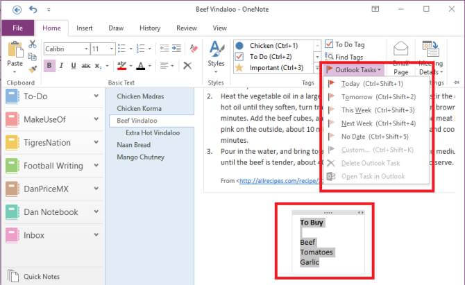 نحوه ی تنظیم لیست یادآوری ها در onenote برای irnab ir نحوه ی تنظیم لیست یادآوری ها در OneNote برای حساب Outlook
