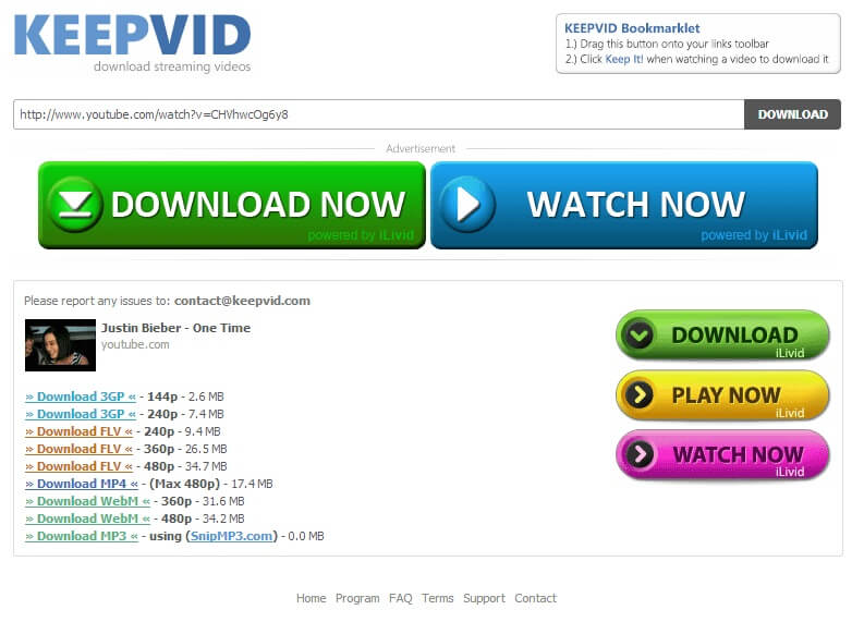 نحوه ی ذخیره ی یک ویدئوی با استفاده از keepvid com irnab ir نحوه ی ذخیره ی یک ویدئوی با استفاده از KeepVid.com