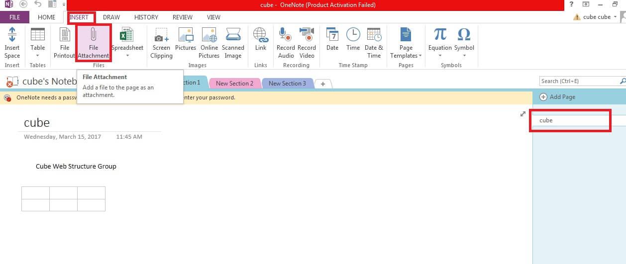 نحوه ی پیوست فایل در onenote irnab ir نحوه ی پیوست فایل در OneNote