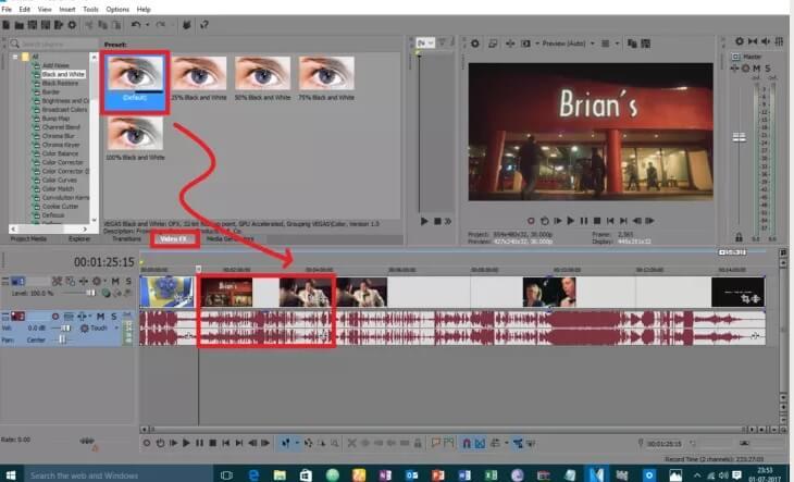 5be9524f2f631 نحوه ی سیاه و سفید کردن ویدئو با استفاده irnab ir نحوه ی سیاه و سفید کردن ویدئو با استفاده از Sony Vegas Pro