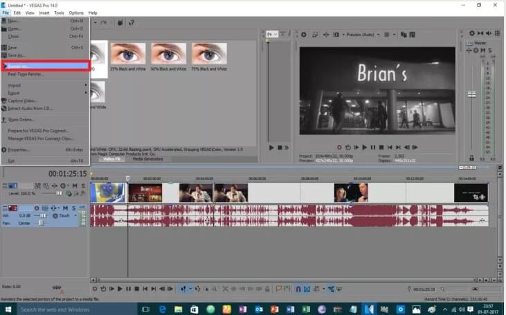 5be95255b17f2 نحوه ی سیاه و سفید کردن ویدئو با استفاده irnab ir نحوه ی سیاه و سفید کردن ویدئو با استفاده از Sony Vegas Pro