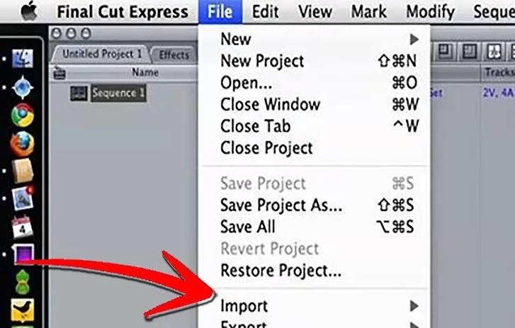 5befc623429f2 نحوه ی import کردن یک فیلم دی وی دی در final cut express irnab ir نحوه ی Import کردن یک فیلم دی وی دی در Final Cut Express