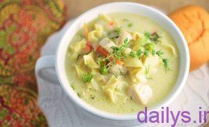 tarztahiyesup khamehemorghonodel irnab ir طرز تهیه سوپ خامه ای مرغ و نودل