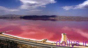 دریاچه نمک به رنگ خون در شیراز irnab ir دریاچه نمک به رنگ خون در شیراز