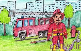 5dc3f82f55e37 naghashi mashin atash neshani irnab ir نقاشی ماشین آتش نشانی