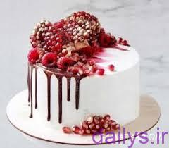 5ddeccd2ac94e model keyk shab yalda baraye aroos irnab ir مدل کیک شب یلدا برای عروس