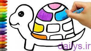naghashi lakposht koodakane irnab ir نقاشی لاک پشت کودکانه