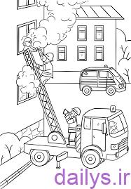naghashi mashin atash neshani irnab ir نقاشی ماشین آتش نشانی