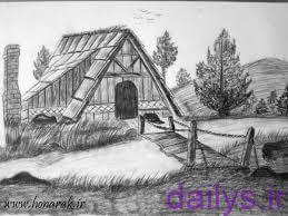 5de8a807bff9d naghashi siah ghalam az tabiat irnab ir نقاشی سیاه قلم از طبیعت